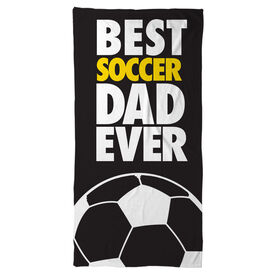Soccer Beach Towel Best Dad Ever