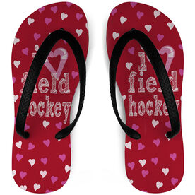 Field Hockey Flip Flops I Heart Field Hockey