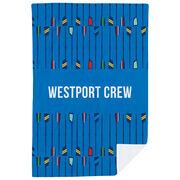 Crew Premium Blanket - Personalized Oar Pattern