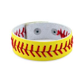 Authentic Softball Leather Bracelet