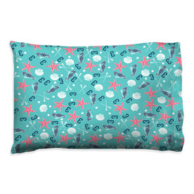 Girls Lacrosse Pillowcase - Sea Star and Shells