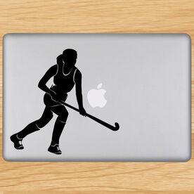 Field Hockey Field Hockey Girl Running Removable ChalkTalkGraphix Laptop Decal