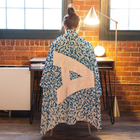 Personalized Premium Blanket - Dotted Initial
