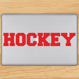 Hockey Written Out Removable ChalkTalkGraphix Laptop Decal