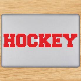 Hockey Written Out Removable ChalkTalkGraphix Laptop Decal