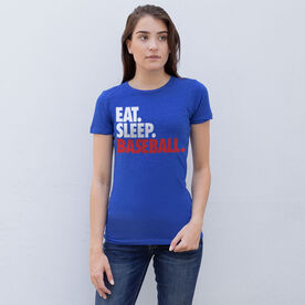 Baseball Women's Everyday Tee - Eat. Sleep. Baseball.