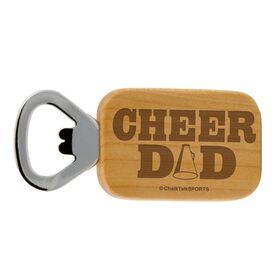 Cheer Dad Maple Bottle Opener
