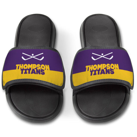 Hockey Repwell® Slide Sandals - Team Name Colorblock