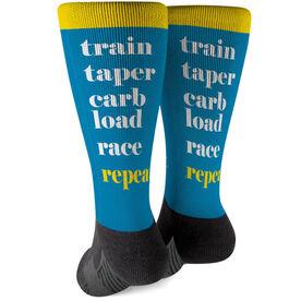 Running Printed Mid-Calf Socks - Run Mantra (Repeat)