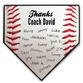 Baseball Personalized Thanks Coach Baseball Home Plate Plaque