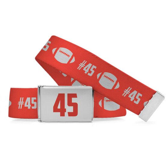 Football Lifestyle Belt Number Pattern