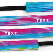 Athletic Juliband No-Slip Headband - Personalized Tie-Dye Text
