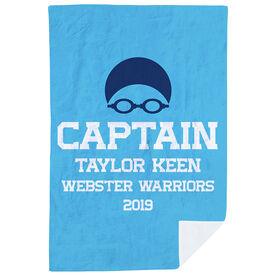 Swimming Premium Blanket - Personalized Captain