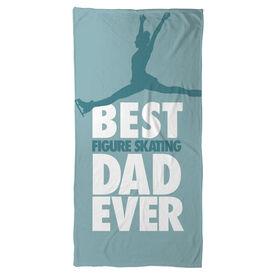 Figure Skating Beach Towel Best Dad Ever