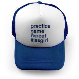 Girls Lacrosse Trucker Hat - Practice Game Repeat