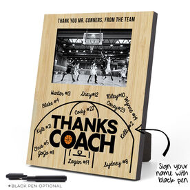 Basketball Vertical Top Picture Photo Frame - Coach (Autograph)
