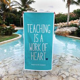 Personalized Premium Beach Towel - Teaching Work of Heart