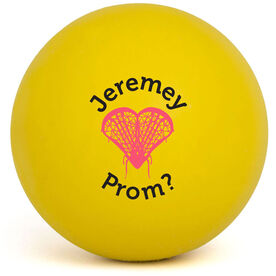 Personalized Lacrosse My Heart - Prom Invitation Lacrosse Ball (Yellow Ball)
