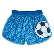 Lightning Soccer Shorts - Blue