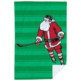 Hockey Premium Blanket - Slap Shot Santa Stripes