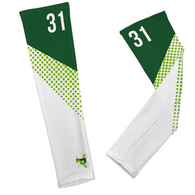 Arm Sleeves - Pentucket Youth Girls Lacrosse Logo with Pattern