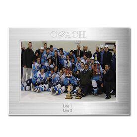 Silver Engraved Hockey Coach Frame 4 x 6