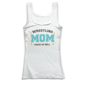 Wrestling Vintage Fitted Tank Top - Wrestling Mom