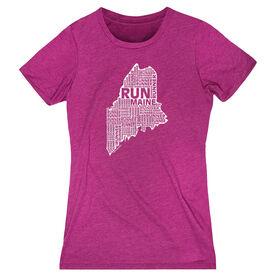 Women's Everyday Runners Tee Maine State Runner