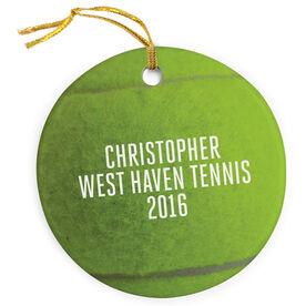 Tennis Porcelain Ornament Ball