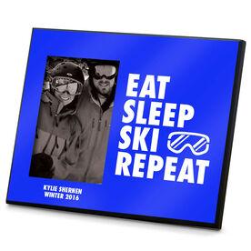 Skiing Photo Frame Eat Sleep Ski Repeat