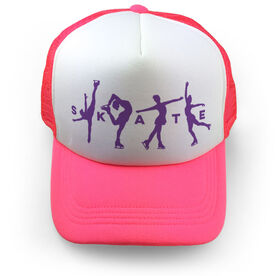 Figure Skating Trucker Hat - Skate With Silhouettes