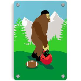 Football Metal Wall Art Panel - Bigfoot