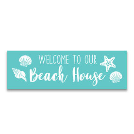 "12.5"" X 4"" Removable Wall Tile - Welcome To Our Beach House"