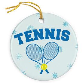 Tennis Porcelain Ornament Crossed Raquets