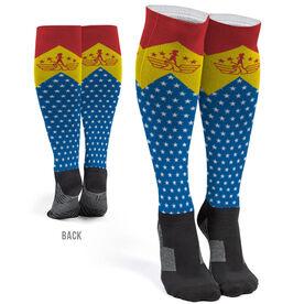 Running Printed Knee-High Socks - Runder Woman