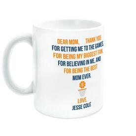 Basketball Coffee Mug - Dear Mom Heart