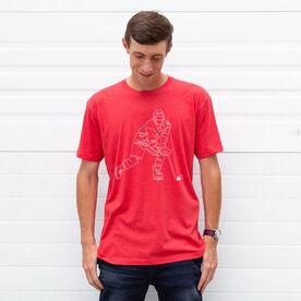Hockey Short Sleeve T-Shirt - Hockey Player Sketch