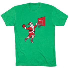Basketball T-Shirt Short Sleeve - Slam Dunk Santa