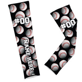 Baseball Printed Arm Sleeves Baseball All Over Pattern