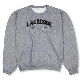 Guys Lacrosse Crew Neck Sweatshirt - Lacrosse Crossed Sticks