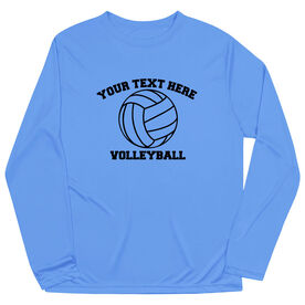 Volleyball Long Sleeve Performance Tee - Custom Volleyball