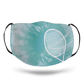 Tennis Face Mask - Racquet with Tie-Dye