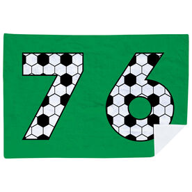 Soccer Premium Blanket - Custom Soccer Numbers
