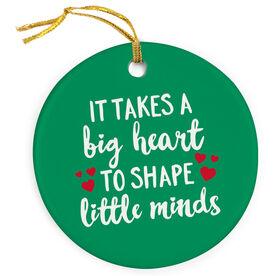 Teacher Porcelain Ornament - Big Heart Little Minds