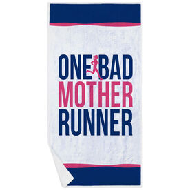 Running Premium Beach Towel - One Bad Mother Runner