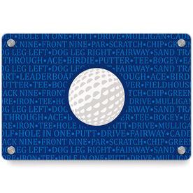 Golf Metal Wall Art Panel - Ball With Terms