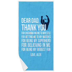 Wrestling Premium Beach Towel - Dear Dad