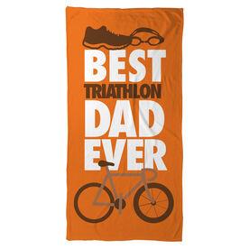 Triathlon Beach Towel Best Dad Ever