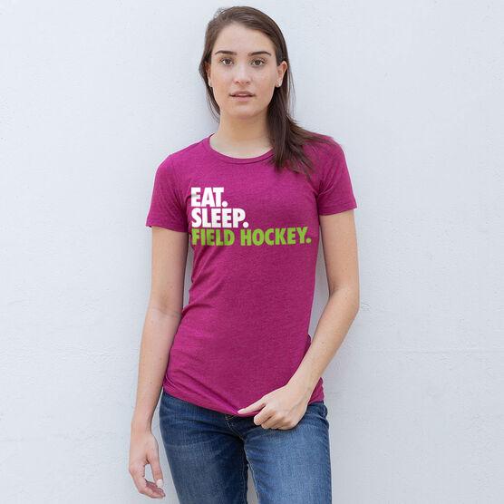 Field Hockey Women's Everyday Tee - Eat. Sleep. Field Hockey.
