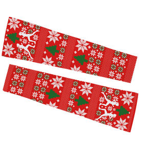Running Printed Arm Sleeves - Ugly Sweater